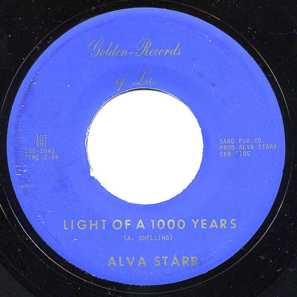 Alva Starr|Alva Snelling light of a 1000 years / anna