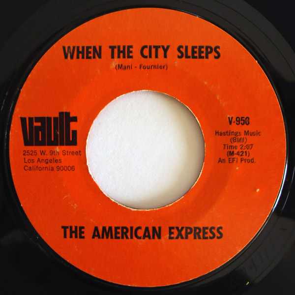 American Express, the when the city sleeps / peggy sue