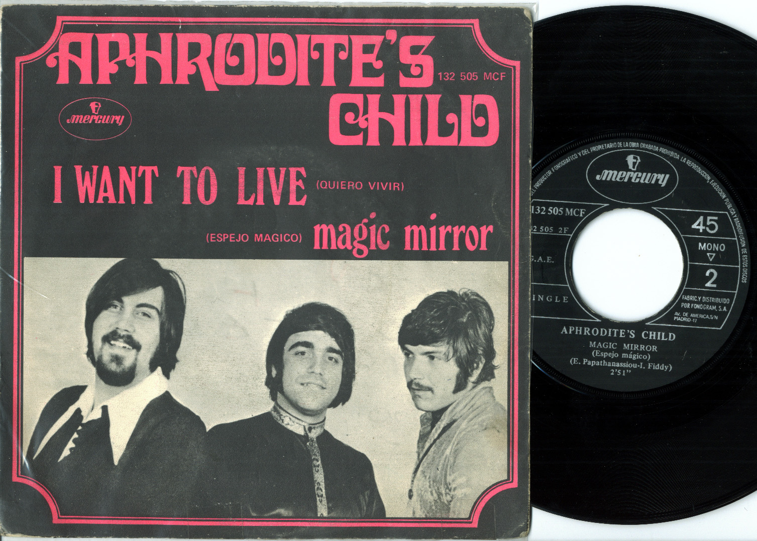 Aphrodite's Child magic mirror / i want to live