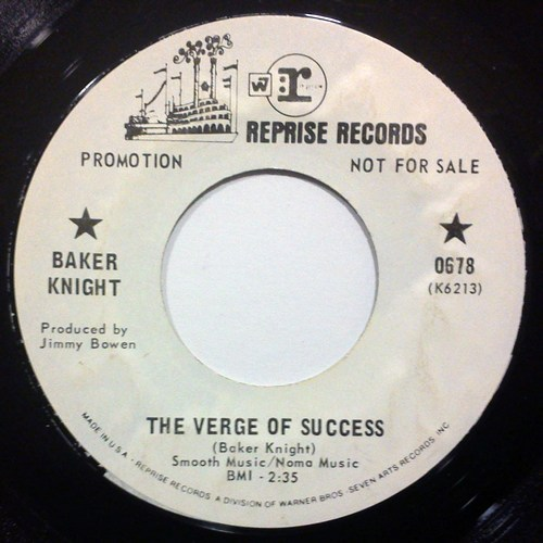 Baker Knight the verge of success / are you satisfied now
