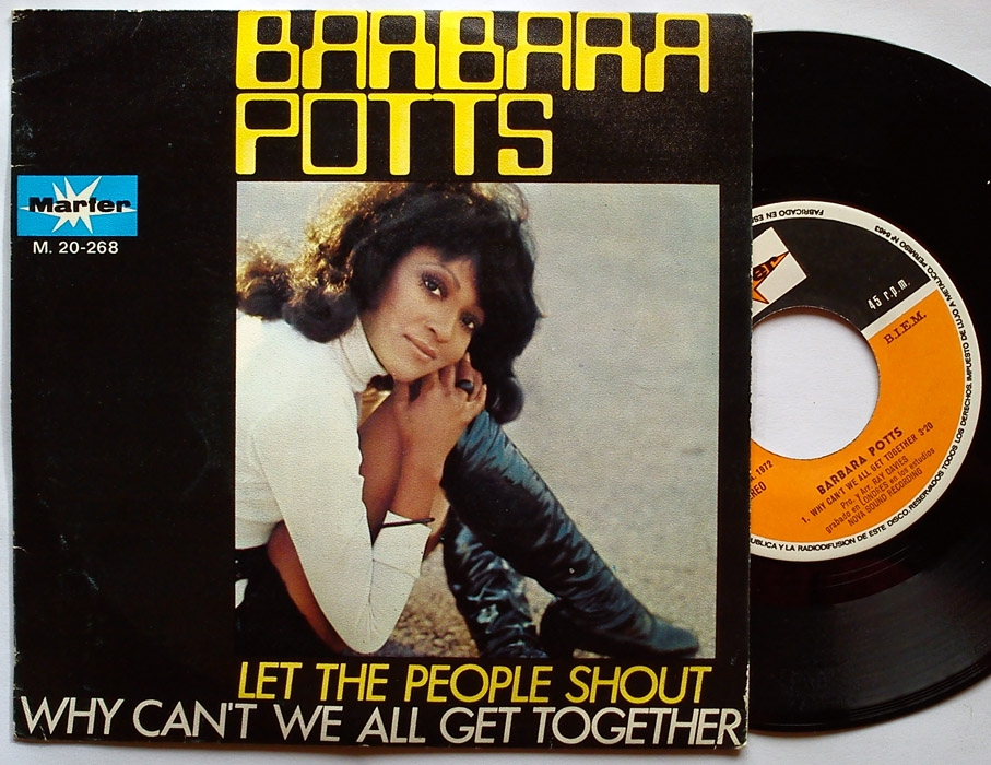 Barbara Potts let the people shout / why can't we all get together