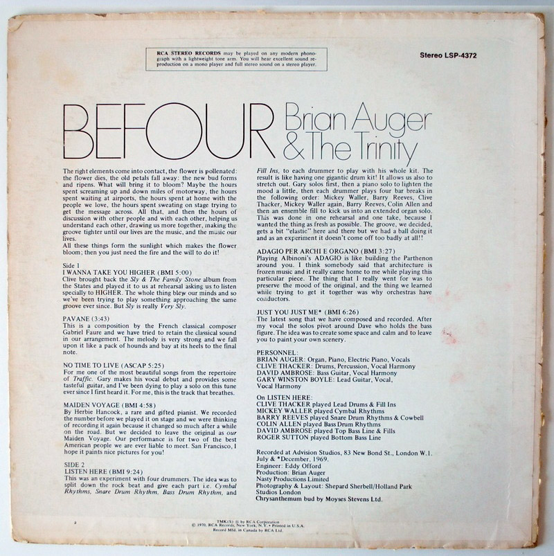 Brian Auger & the Trinity Befour