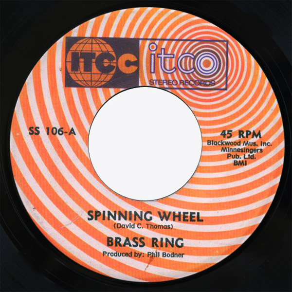 Brass Ring spinning wheel / yesterday when i was young