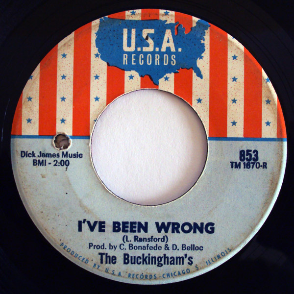 Buckinghams, the i've been wrong / love ain't enough