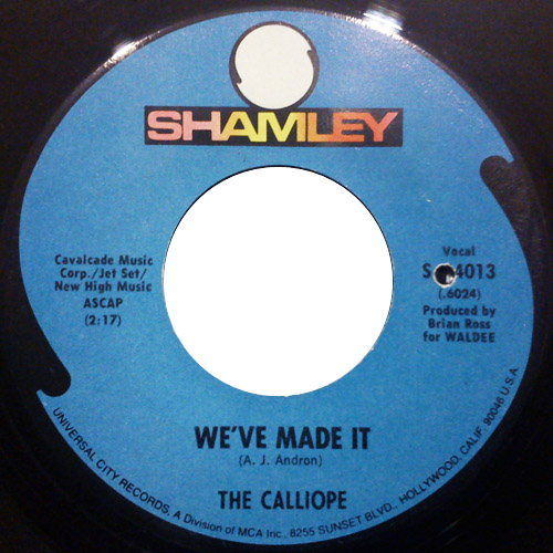 Calliope, the we've made it / the friends of mrs fisher