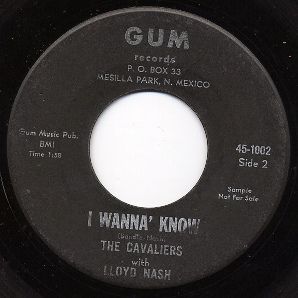 Cavaliers, the with Lloyd Nash put your trust in me / i wanna' know