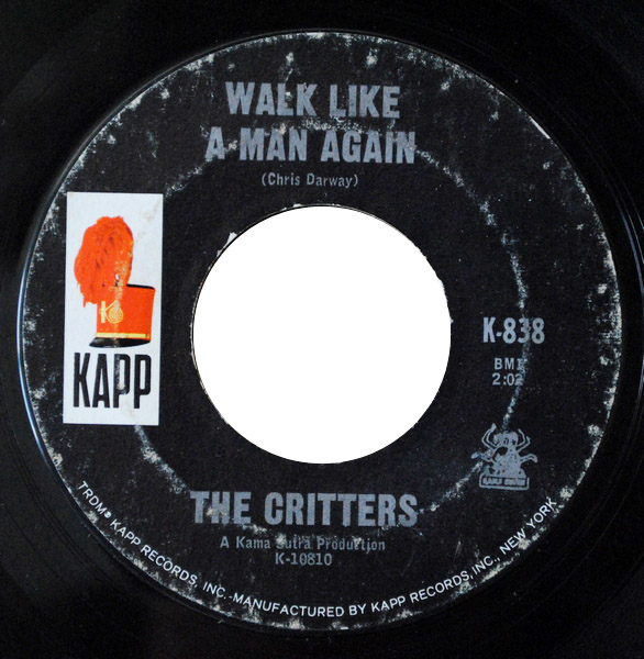 Critters, the walk like a man again / don't let the rain fall down on me
