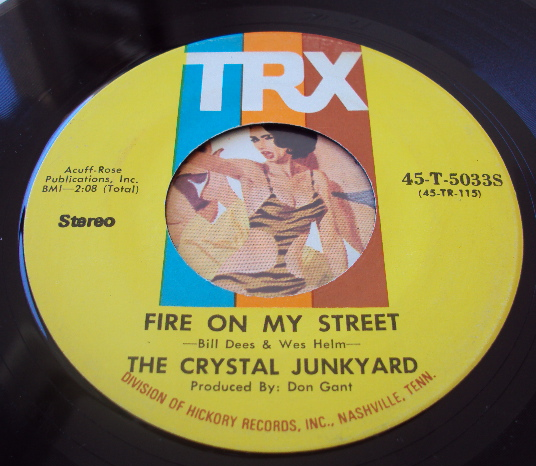 Crystal Junkyard, the fire on my street / mary's little lamb