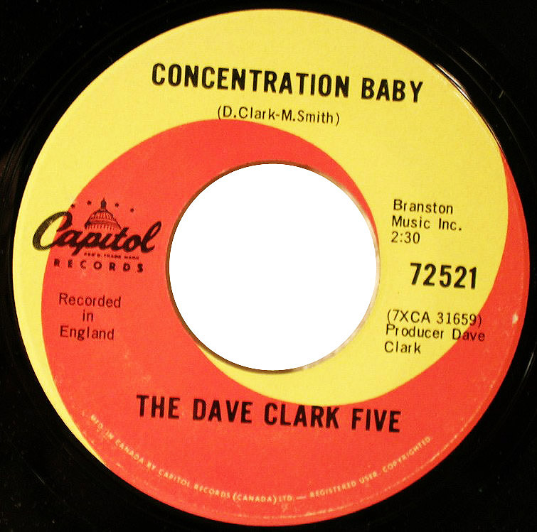 Dave Clark Five concentration baby / everybody knows