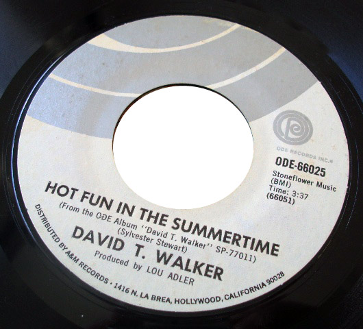 David T Walker i want to talk to you / hot fun in the summer time