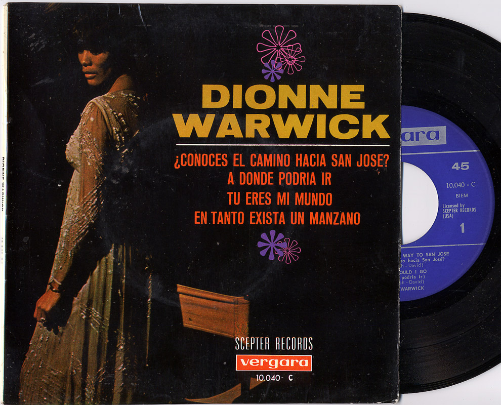 Dionne Warwick do you know the way to san jose / where would i go / you're my world / as long as there's an apple tree