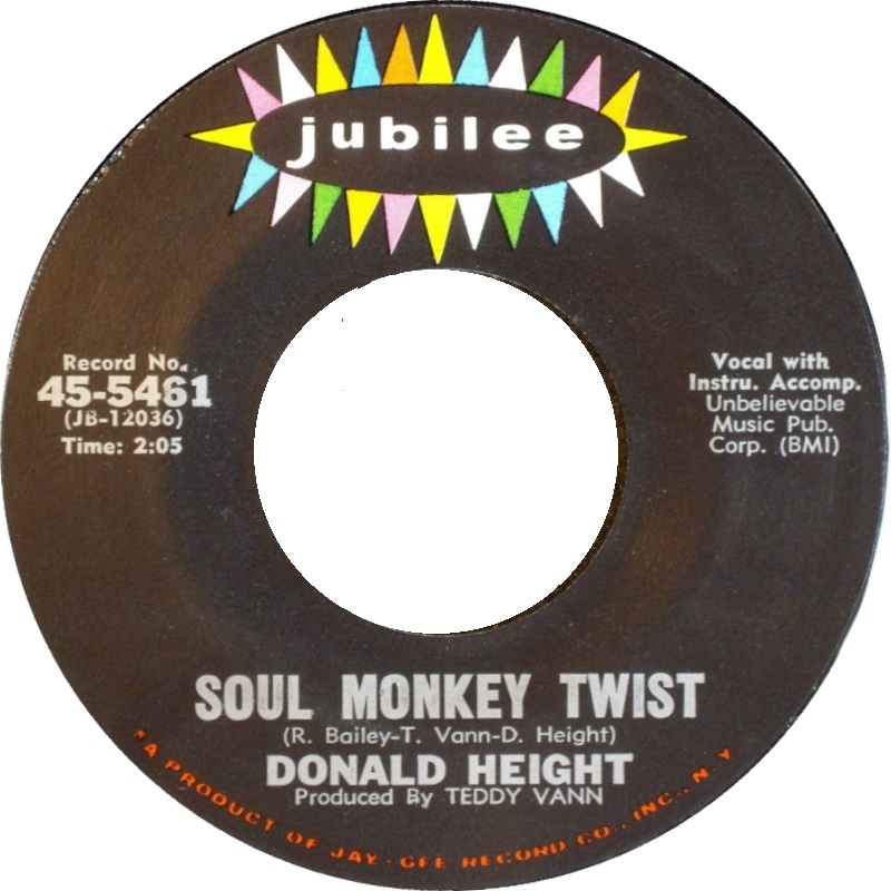 Donald Height run joe / soul monkey twist