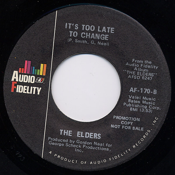 Elders, the looking for the answer / it's too late to change