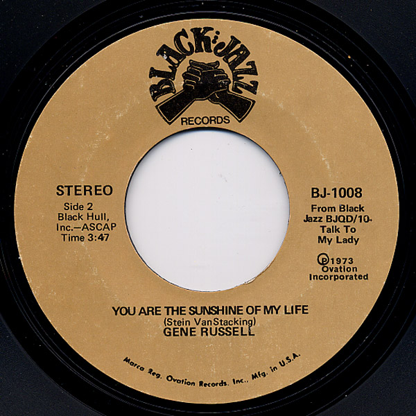 Gene Russell me and mrs jones / you are the sunshine of my life