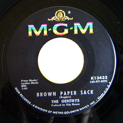 Gentrys, the brown paper sack / spread it on thick
