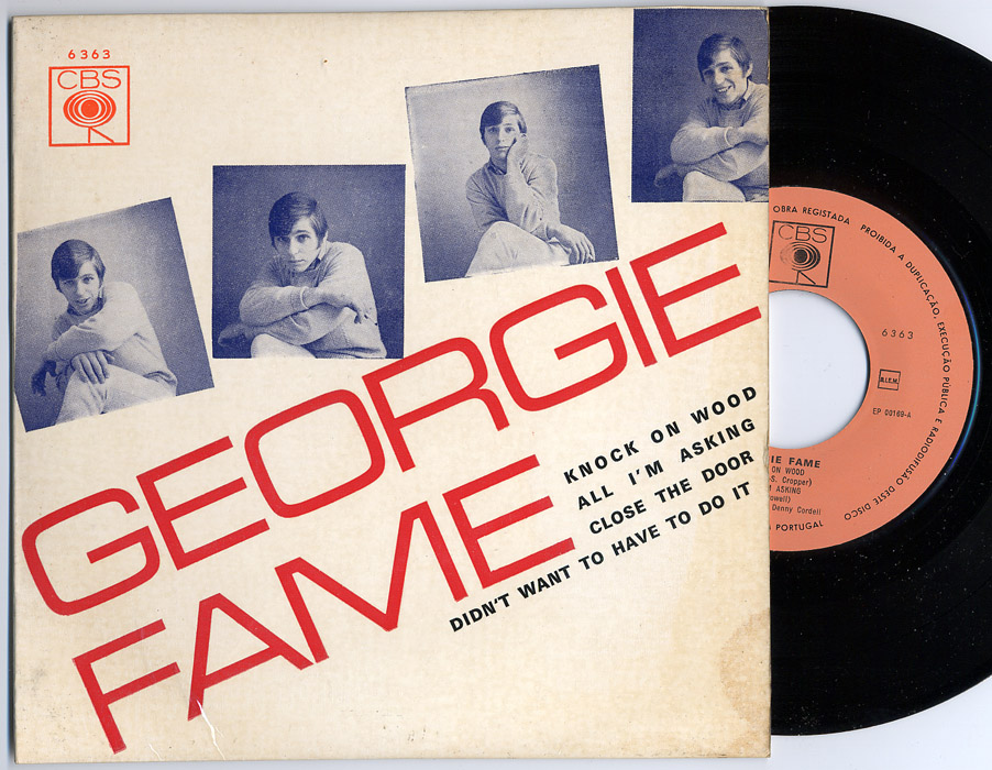 Georgie Fame knock on wood / all I'm asking / close the door / didn't want to have to do it