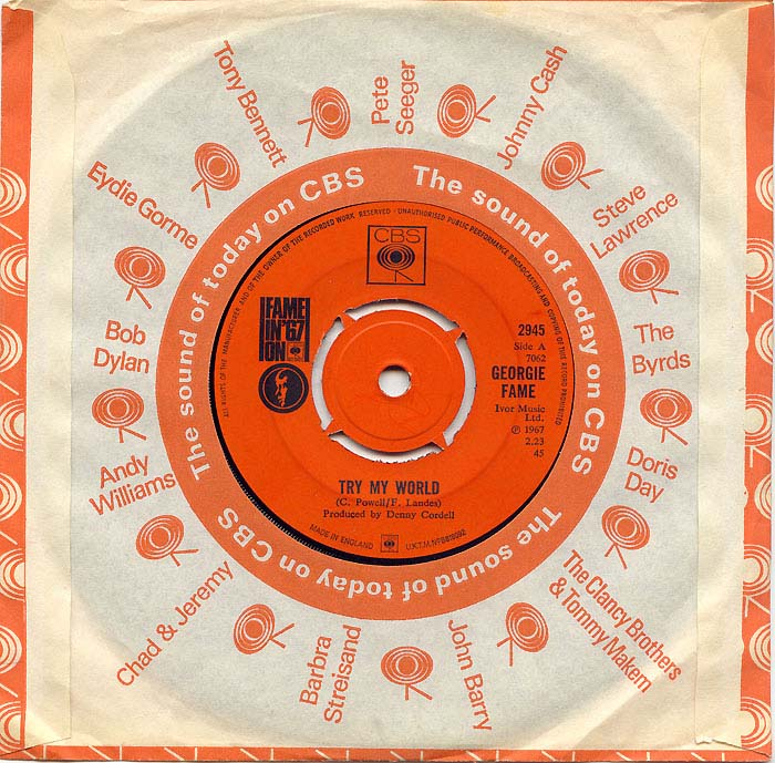 Georgie Fame no thanks / try my world