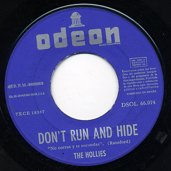 Hollies, the bus stop / don't run and hide