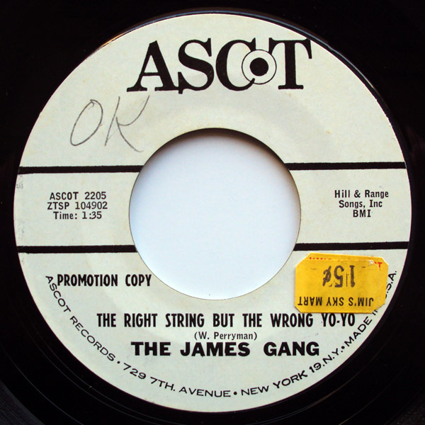 James Gang, the the right string but the wrong yo-yo / satin and lace