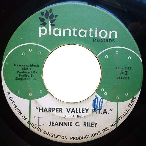 Jeannie C Riley harper valley p.t.a. / yesterday all day long today