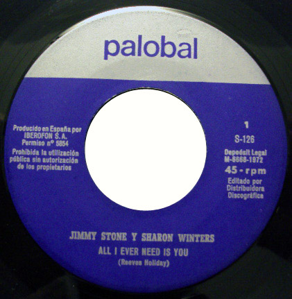Jimmy Stone & Sharon Winters all i ever need is you / did you ever