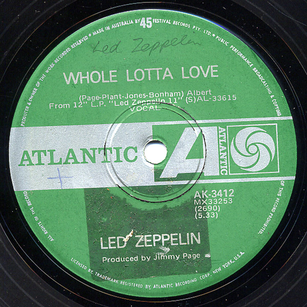 Led Zeppelin whole lotta love / living loving maid