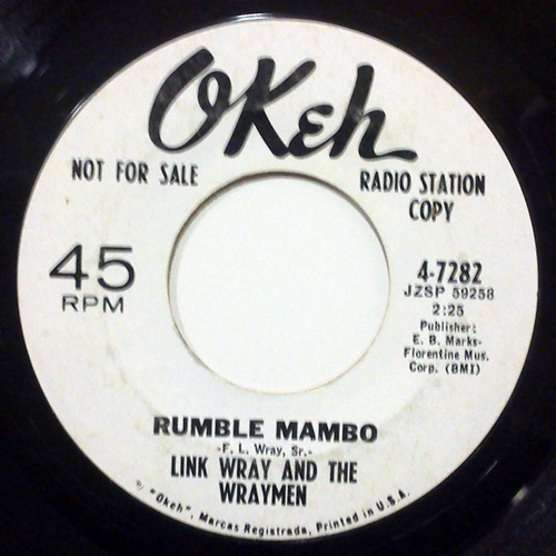 Link Wray and the Wraymen / Red Saunders Orchestra rumble mambo / hambone
