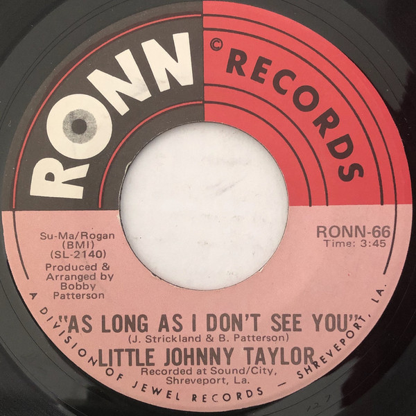 Little Johnny Taylor as long as i don't see you / strange head with a bad head