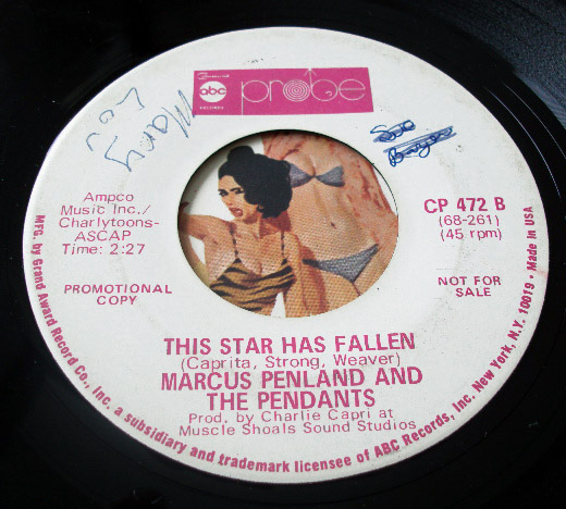 Marcus Penland and the Pendants mr elusive dreams / this star has fallen
