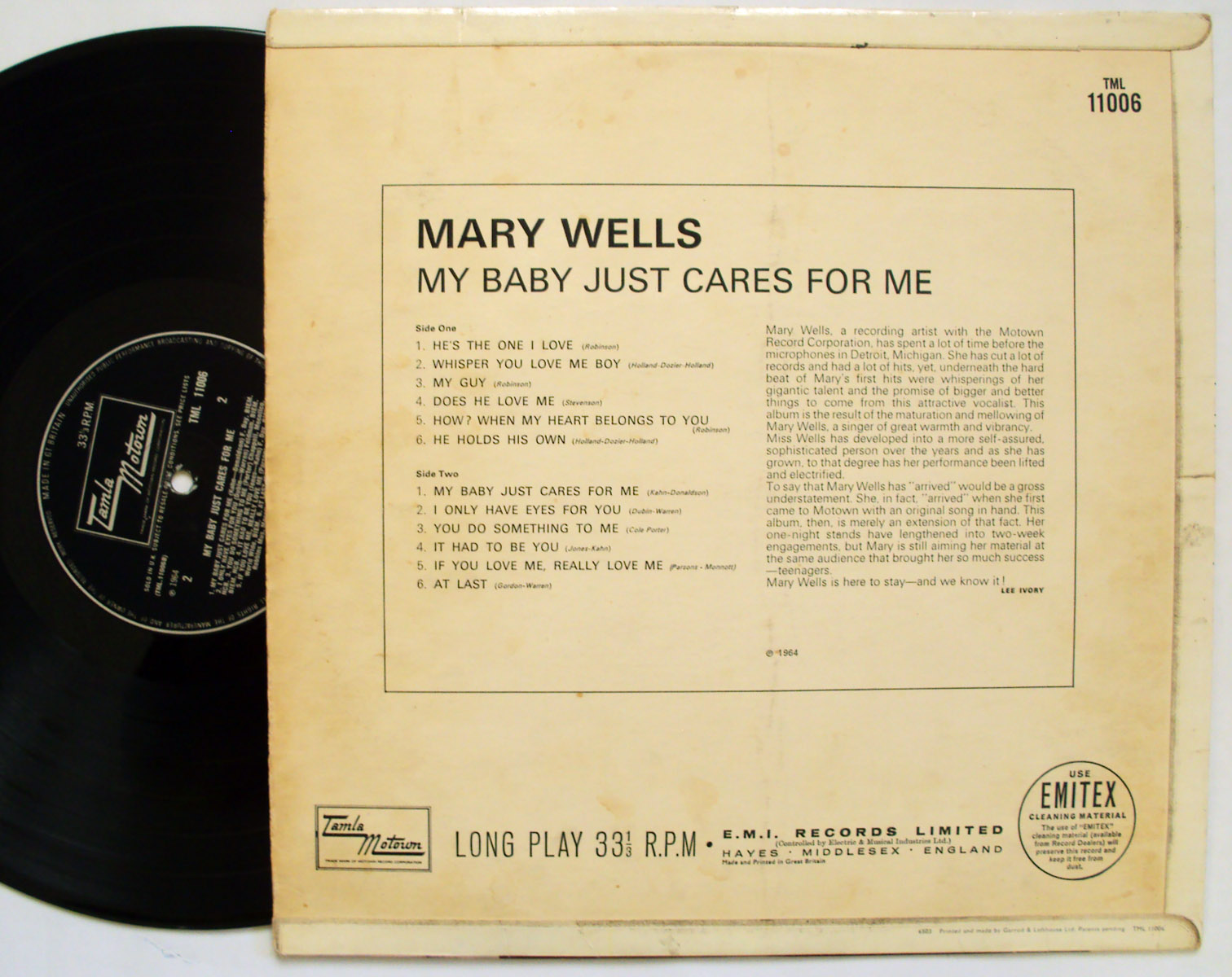 Mary Wells my baby just cares for me