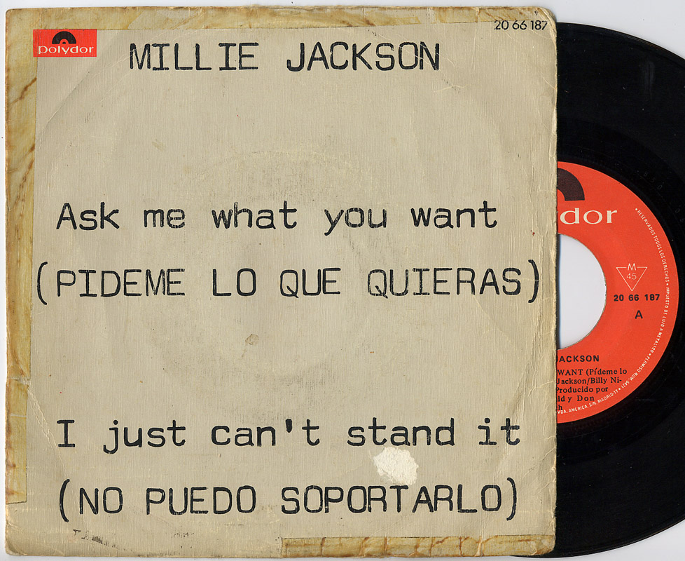 Millie Jackson ask me what you want / i just can't stand it