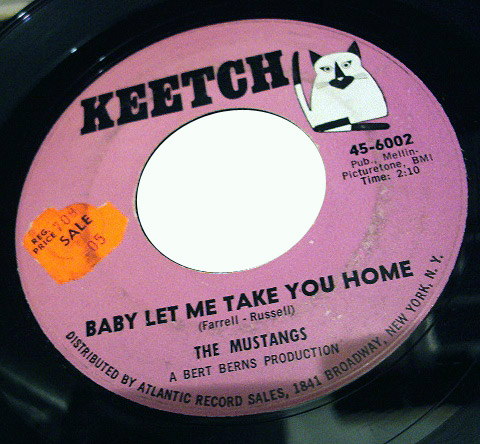 Mustangs, the baby let me take you home / davie was a bad boy