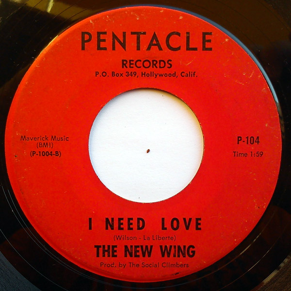 New Wing, the I need love / brown eyed woman
