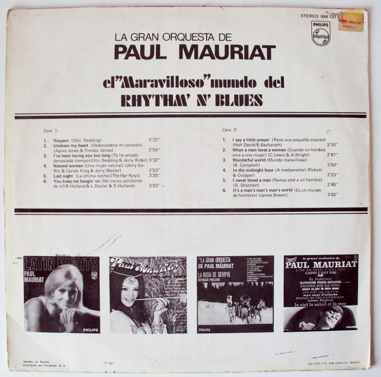 Paul Mauriat rhythm & blues