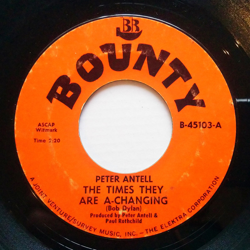 Peter Antell the times they are a-changing / yesterday and tomorrow