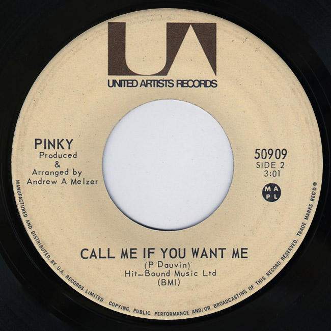 Pinky tell me who / call me if you want me