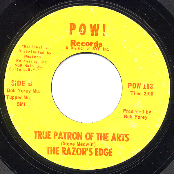 Razor's Edge night and day / true patron of the arts