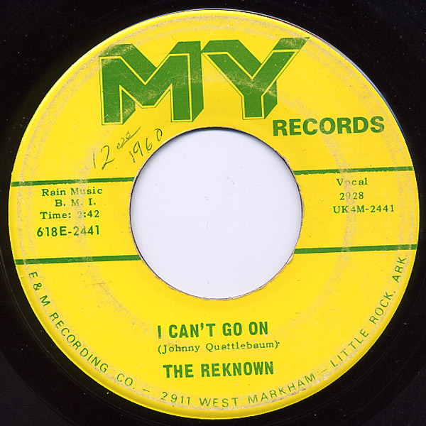 Reknown, the i can't go on / can't get enough of your love