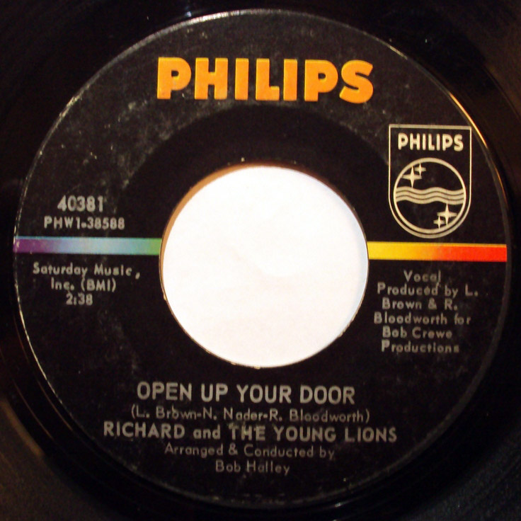 Richard and the Young Lions open up your door / once upon your smile