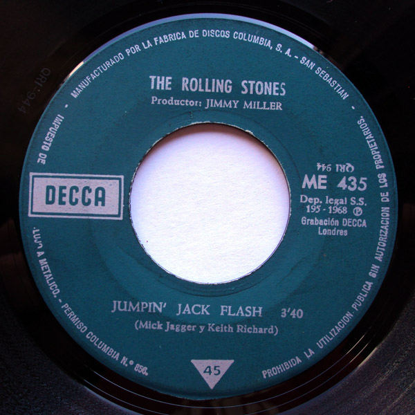 Rolling Stones, the jumpin' jack flash / child of the moon