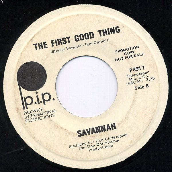 Savannah oh, black day / the first good thing