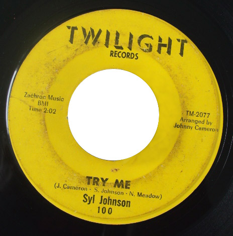 Syl Johnson try me / come on sock it to me