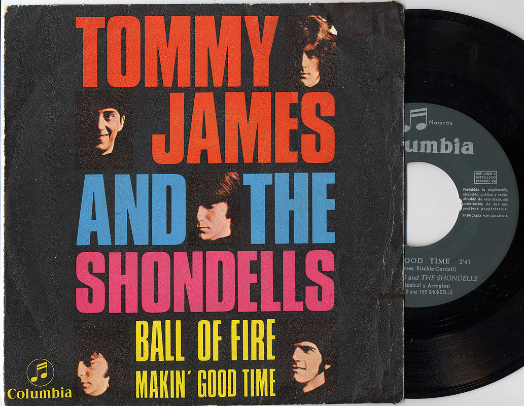 Tommy James and the Shondells ball of fire / makin' good time