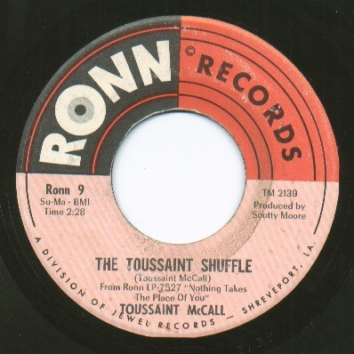 Toussaint McCall the toussaint shuffle / i'll do it for you