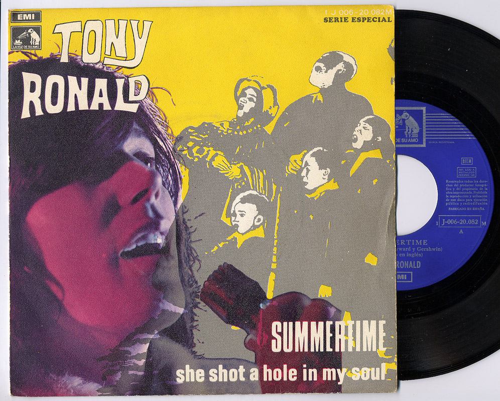 Tony Ronald summertime / she shot a hole in my soul