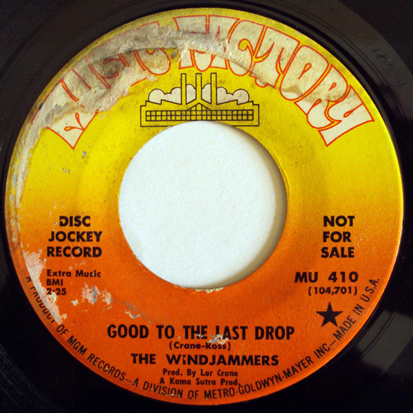 Windjammers, the good to the last drop / we've got a good thing goin